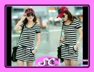 RJ-22,Strip Dress,  32.500